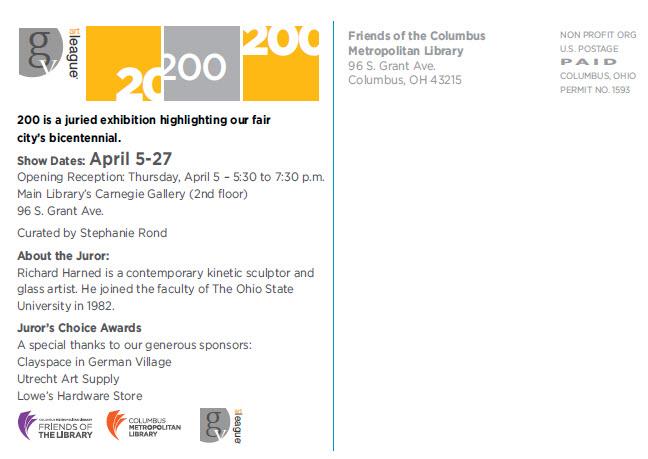 Gval Postcard Back | Friends Of The Columbus Metropolitan Library
