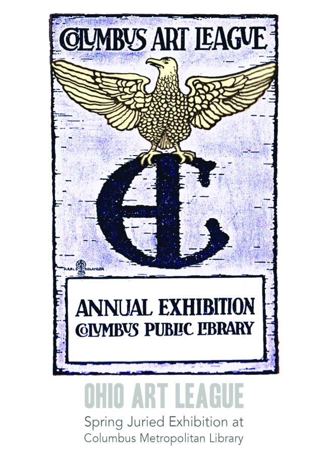 Postcard Image is from the 1918 Columbus Art League annual exhibition at the library.