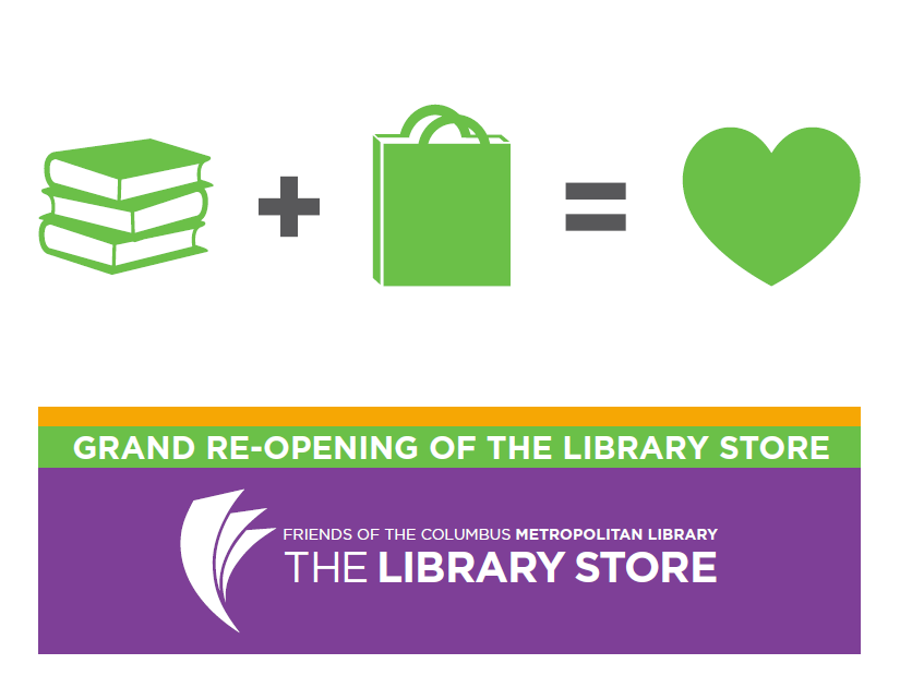 The Library Store Grand Re-Opening begins Saturday, June 14.