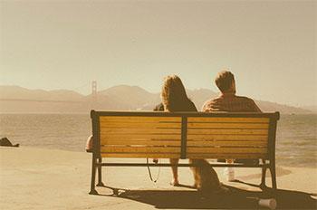 A park bench in San Francisco