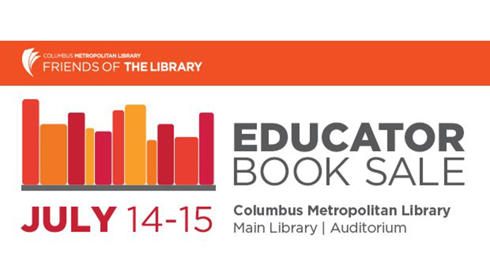 educator book sale july 14 15 friends of the columbus