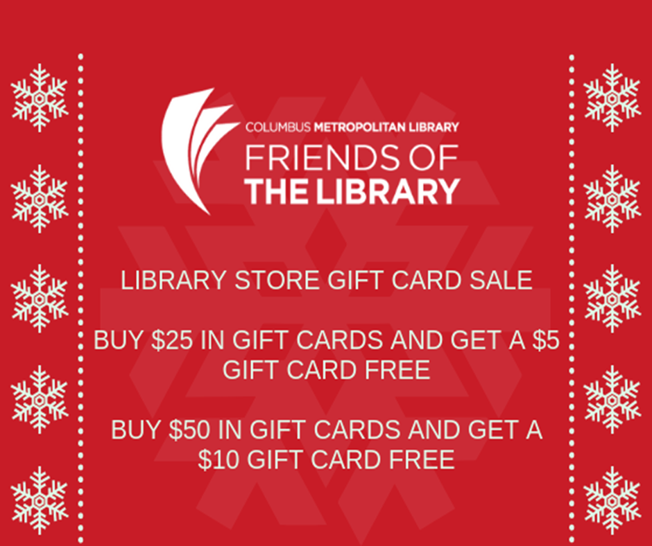 Library Store Gift Card Sale Friends Of The Columbus Metropolitan
